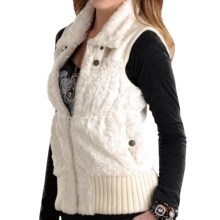 Powder River Outfitters Lansing Vest - Faux Fur (For Women) in White - Closeouts