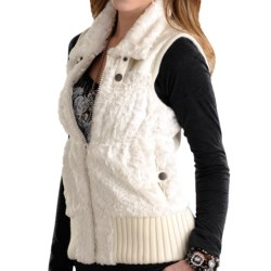 Powder River Outfitters Lansing Vest - Faux Fur (For Women) in Black