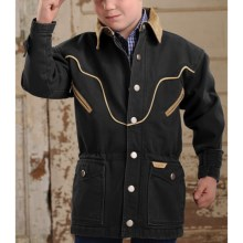 Powder River Outfitters Lil' Chadron Coat - Canvas Lined (For Boys) in Black - Closeouts