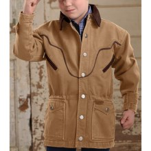 Powder River Outfitters Lil' Chadron Coat - Canvas Lined (For Boys) in Tan - Closeouts