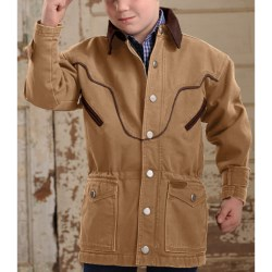 Powder River Outfitters Lil' Chadron Coat - Canvas Lined (For Boys) in Tan