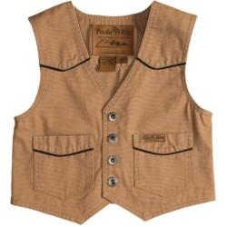 Powder River Outfitters Lil Colt Vest - Garment-Washed Canvas (For Kids) in Tan
