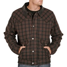 Powder River Outfitters Logan Bomber Coat - Wool Blend (For Men) in Black/Brown - Closeouts