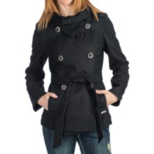 Powder River Outfitters Macy Coat - Heathered Wool Blend (For Women) in Charcoal - Closeouts