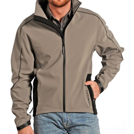 Powder River Outfitters Mariner Stretchy Soft Shell Jacket (For Men) in Brown/Black