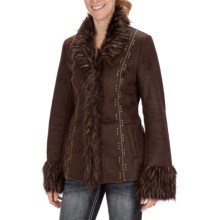 Powder River Outfitters Marissa Coat - Faux Fur (For Women) in Dark Brown - Closeouts