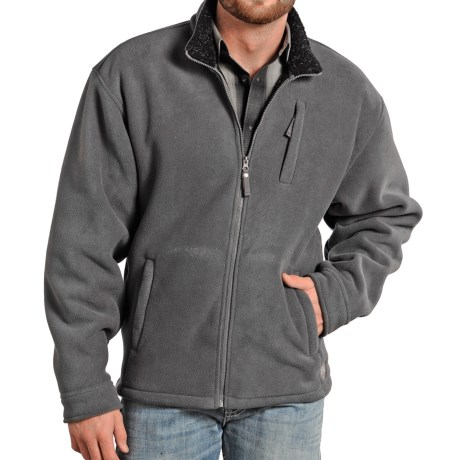 Powder River Outfitters Northwestern Fleece Jacket (For Men) in 005 Charcoal