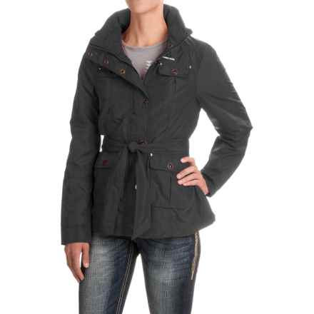 Powder River Outfitters Nylon Barn Coat (For Women) in Black - Closeouts