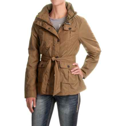 Powder River Outfitters Nylon Barn Coat (For Women) in Tan - Closeouts