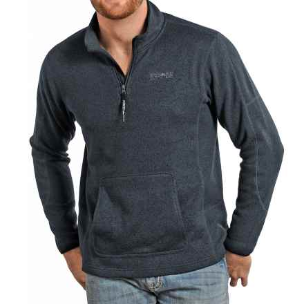 Powder River Outfitters Pullover Sweater - Zip Neck (For Men) in Black - Closeouts
