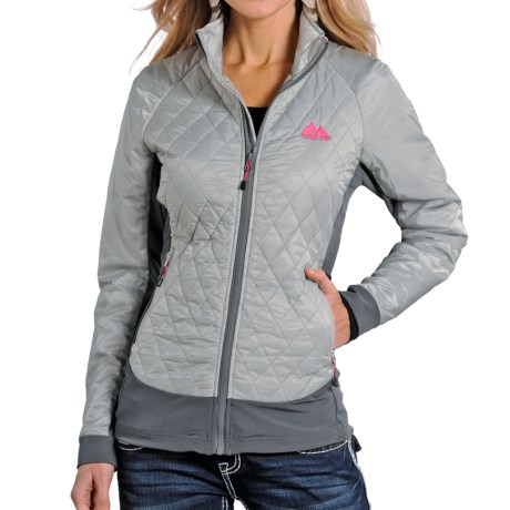 Powder River Outfitters Quilted Jacket - Insulated (For Women) in Two Tone Grey