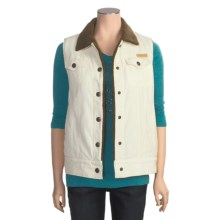 Powder River Outfitters Regina Vest - Garment-Washed Corduroy (For Women) in Cream - Closeouts