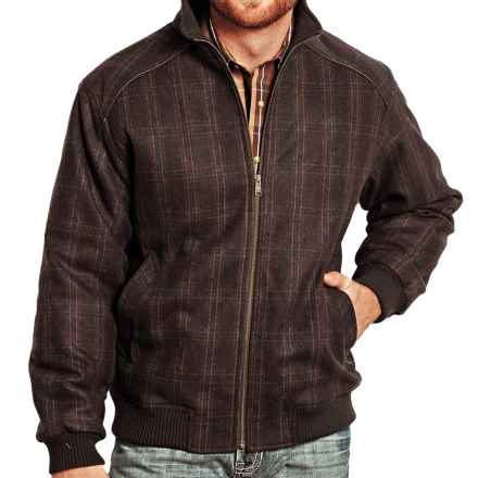 Powder River Outfitters Reynolds Coat - Insulated (For Men) in Brown Plaid - Closeouts