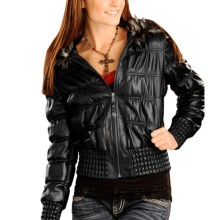 Powder River Outfitters San Paulo Jacket - Leather (For Women) in Black - Closeouts