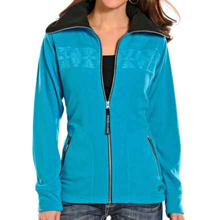 Powder River Outfitters Sequoia Fleece Jacket (For Women) in Turquoise - Closeouts