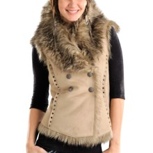 Powder River Outfitters Sheltie Vest - Double-Breasted (For Women) in Tan - Closeouts