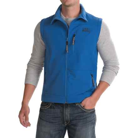 Powder River Outfitters Soft Shell Vest (For Men) in Royal - Closeouts