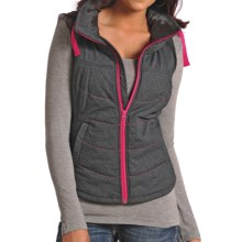 Powder River Outfitters Solid High-Performance Vest - Insulated, Full Zip (For Women) in Charcoal - Closeouts