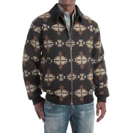 Powder River Outfitters Southwest-Print Jacket (For Men) in Black - Closeouts