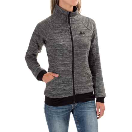 Powder River Outfitters Space-Dye Fleece Jacket (For Women) in Black/Grey - Closeouts