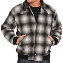 Powder River Outfitters Spokane Bomber Coat - Wool Blend (For Men) in Black - Closeouts