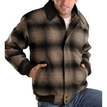Powder River Outfitters Spokane Plaid Coat - Insulated, Wool Blend (For Men) in Brown - Closeouts
