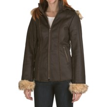 Powder River Outfitters Thames Coat - Removable Hood (For Women) in Brown - Closeouts