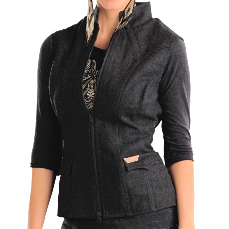 Powder River Outfitters Topeka Vest - Double-Princess Seams (For Women) in Black