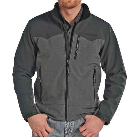 Powder River Outfitters Two-Tone Soft Shell Jacket (For Men) in Grey - Closeouts