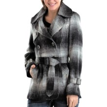 Powder River Outfitters Virginia Plaid Coat - Australian Wool Blend (For Women) in Black/Natural - Closeouts