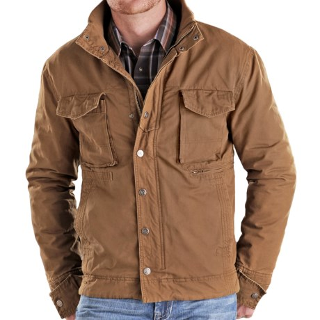 Powder River Outfitters Wilkes Twill Coat (For Men) in Camel