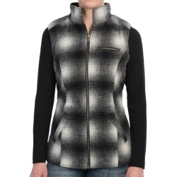 Powder River Outfitters Wool Heather Plaid Vest - Reversible (For Women) in Black