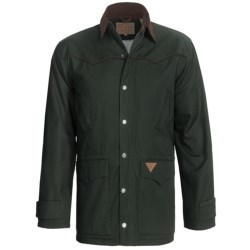 Powder River Rancher Canvas Coat with Berber Lining  (For Men) in Maroon