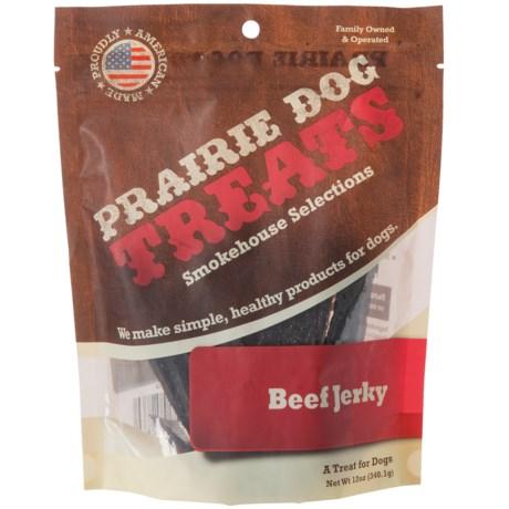 Prairie Dog Beef Jerky Dog Treats - 12 oz. in Beef