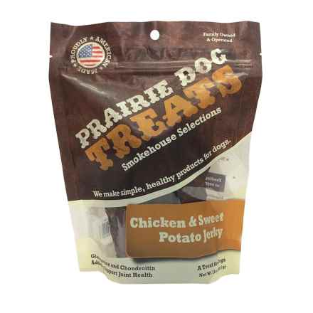 Prairie Dog Chicken and Sweet Potato Jerky Dog Treats in See Photo - Closeouts