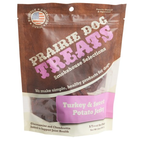 Prairie Dog Turkey and Sweet Potato Jerky Dog Treats - 12 oz. in See Photo