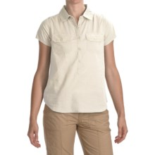 prAna Addison Shirt - Short Sleeve (For Women) in Natural - Closeouts