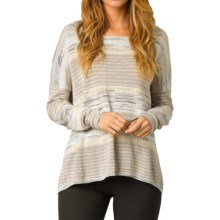 prAna Adelaide Sweater - Relaxed Fit (For Women) in Stone - Closeouts