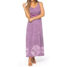 prAna Adrienne Maxi Dress - Empire Waist, Sleeveless (For Women) in Fuchsia - Closeouts