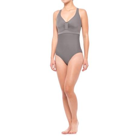 prAna Aelyn One-Piece Swimsuit - UPF 50+, Underwire (For Women) in Moonrock