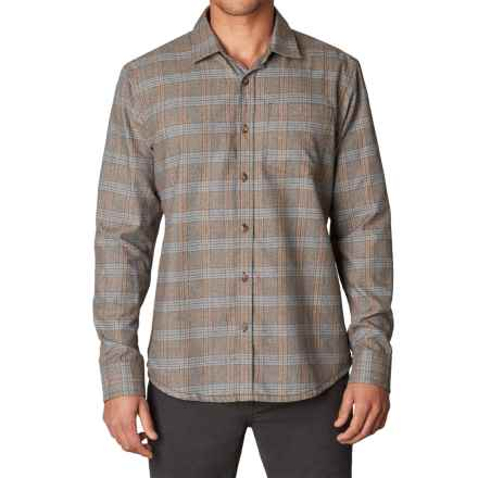 prAna Alabaster Flannel Shirt - Long Sleeve (For Men) in Mud - Closeouts