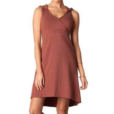 prAna Alana Organic Cotton Dress - Shelf Bra, Sleeveless (For Women) in Brick - Closeouts
