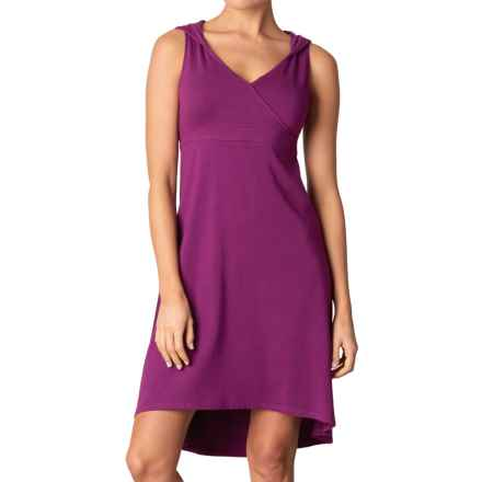 prAna Alana Organic Cotton Dress - Shelf Bra, Sleeveless (For Women) in Light Red Violet - Closeouts
