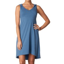 prAna Alana Organic Cotton Dress - Shelf Bra, Sleeveless (For Women) in Vintage Cobalt - Closeouts