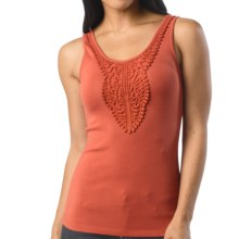 prAna Alba Tank Top - Stretch Organic Cotton (For Women) in Indian Red - Closeouts