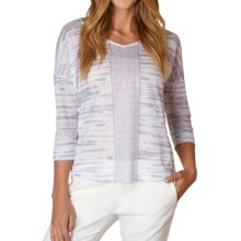 prAna Aleah Shirt - 3/4 Sleeve (For Women) in Earth Grey - Closeouts