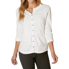 prAna Amber Shirt - Long Sleeve (For Women) in White - Closeouts