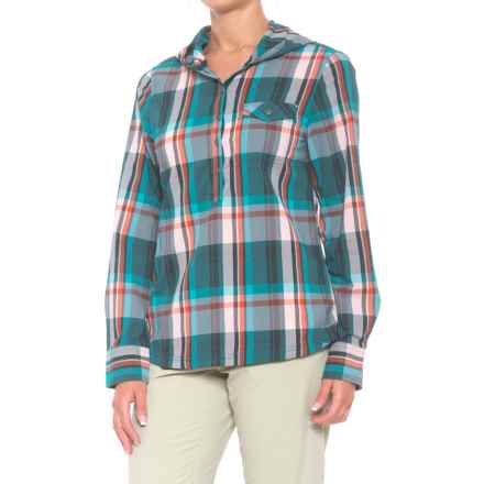prAna Anja Hooded Shirt - UPF 50+, Long Sleeve (For Women) in Deep Balsam - Closeouts