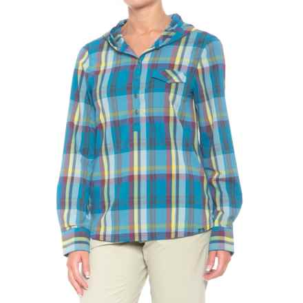 prAna Anja Hooded Shirt - UPF 50+, Long Sleeve (For Women) in River Rock Blue - Closeouts