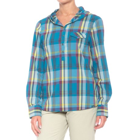 prAna Anja Hooded Shirt - UPF 50+, Long Sleeve (For Women) in River Rock Blue